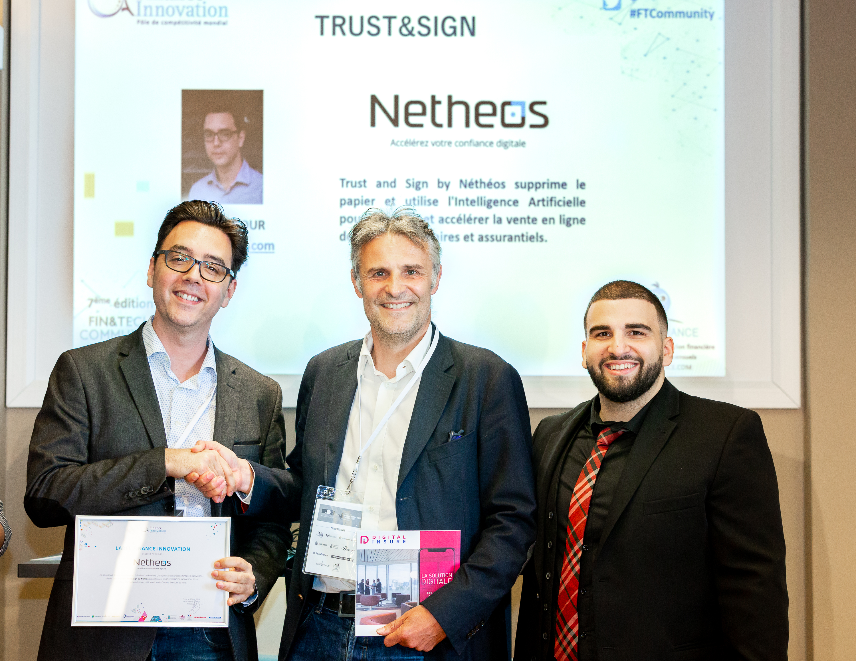 Trophée Netheos Banque Innovation Label Assurance