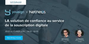 Webinar Yousign Netheos confiance digitale souscription