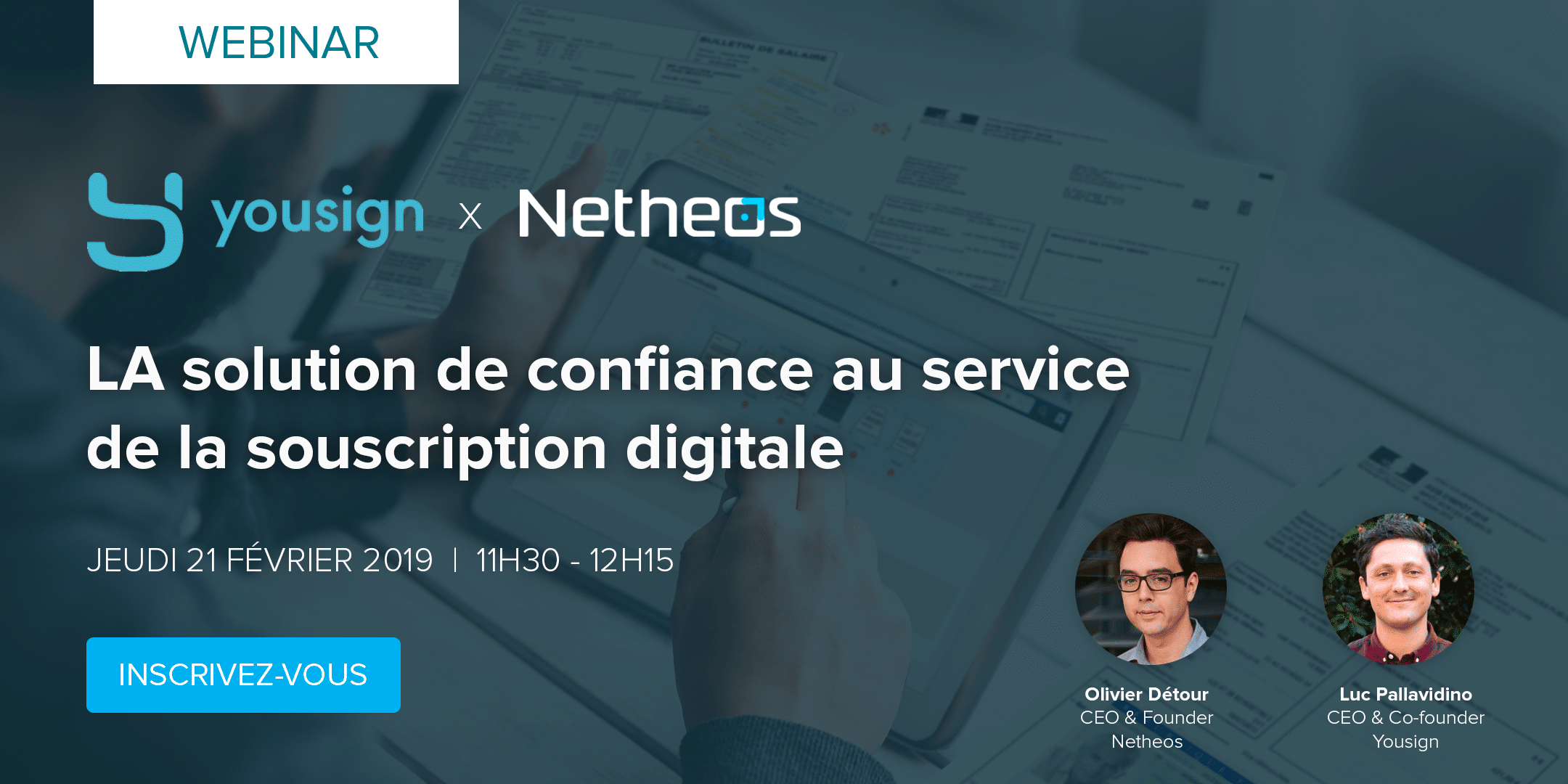 Webinar Yousign Netheos confiance digitale souscription